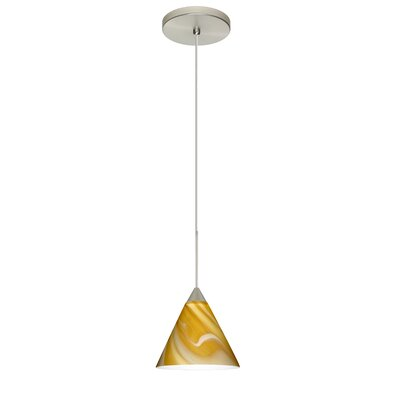 Kani 1 LED Integrated Bulb Mini Pendant Bulb Type: LED, Finish: Satin Nickel