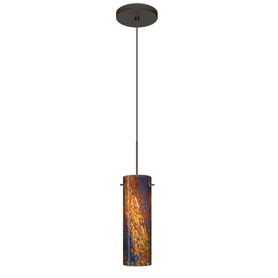 Copa 1 Integrated Bulb Mini Pendant Finish: Bronze, Bulb Type: Halogen