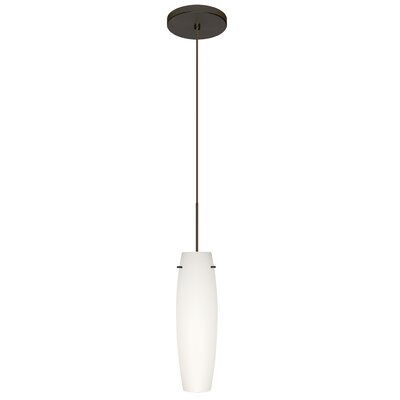 Tutu 1 LED Integrated Bulb Mini Pendant Finish: Bronze, Shade Color: Opal Matte, Bulb Type: Halogen