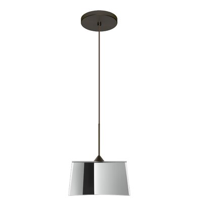 Groove 1-Light Mini Pendant Finish: Bronze, Bulb Type: Halogen