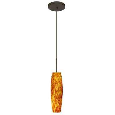 Tutu 1 LED Integrated Bulb Mini Pendant Finish: Bronze, Shade Color: Amber Cloud, Bulb Type: LED