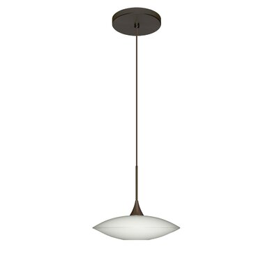 Spazio 1-Light Mini Pendant Finish: Bronze, Bulb Type: LED