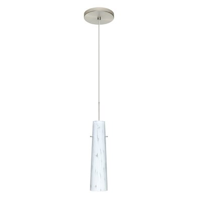 Camino 1 LED Integrated Bulb Mini Pendant Bulb Type: Halogen, Finish: Satin Nickel