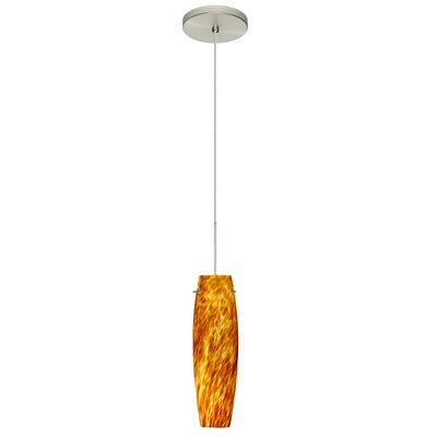Tutu 1 LED Integrated Bulb Mini Pendant Shade Color: Amber Cloud, Bulb Type: Halogen, Finish: Satin Nickel