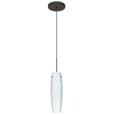 Tutu 1 LED Integrated Bulb Mini Pendant Finish: Bronze, Bulb Type: LED