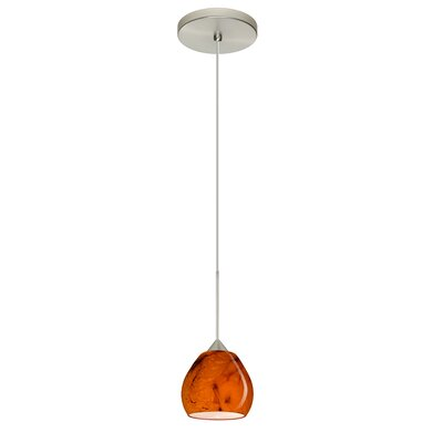 Tay Tay 1 LED Integrated Bulb Mini Pendant Bulb Type: Halogen, Finish: Satin Nickel