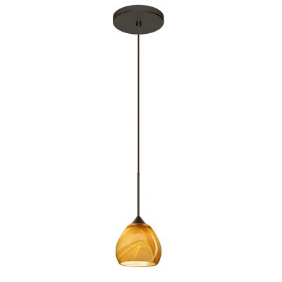Tay Tay 1 Integrated Bulb Mini Pendant Finish: Bronze, Bulb Type: Halogen