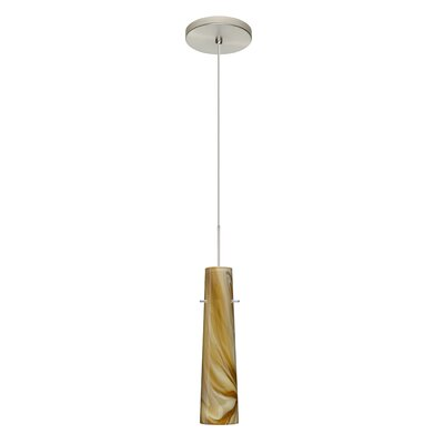 Camino 1 LED Integrated Bulb Mini Pendant Finish: Satin Nickel, Bulb Type: Halogen