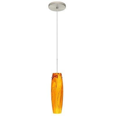 Tutu 1 LED Integrated Bulb Mini Pendant Bulb Type: LED, Finish: Satin Nickel