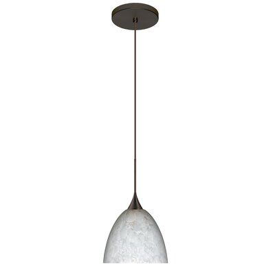 Sasha 1 Integrated Bulb Mini Pendant Finish: Bronze, Bulb Type: LED