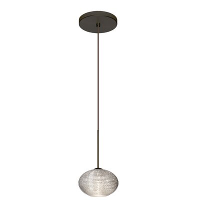 Lasso 1 Integrated Bulb Mini Pendant Finish: Bronze, Shade Color: Opal Matte, Bulb Type: LED