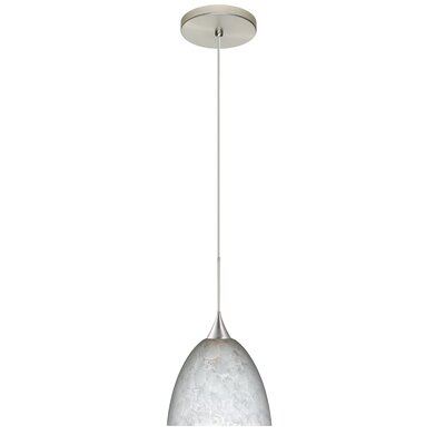 Sasha 1 LED Integrated Bulb Mini Pendant Bulb Type: LED, Finish: Satin Nickel