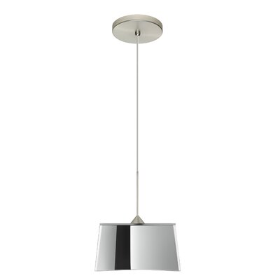 Groove 1-Light Mini Pendant Bulb Type: Halogen, Finish: Satin Nickel