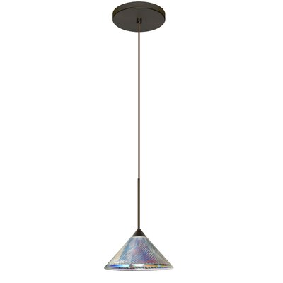 Kona 1 LED Integrated Bulb Mini Pendant Finish: Bronze, Bulb Type: Halogen