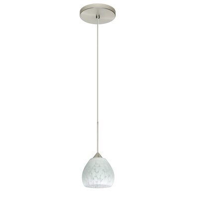 Tay Tay 1 Integrated Bulb Mini Pendant Finish: Satin Nickel, Bulb Type: Halogen