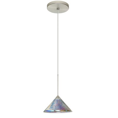 Kona 1 LED Integrated Bulb Mini Pendant Bulb Type: Halogen, Finish: Satin Nickel