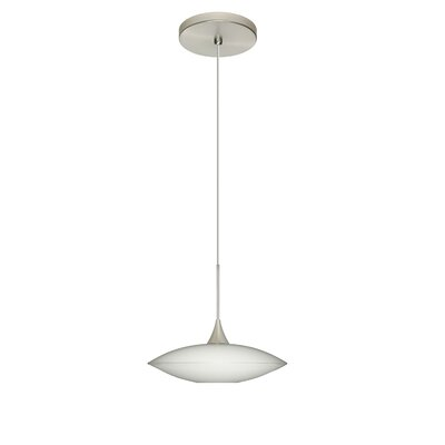 Spazio 1-Light Mini Pendant Bulb Type: Halogen, Finish: Satin Nickel