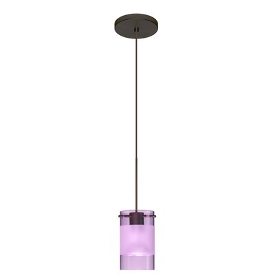 Scope 1-Light Mini Pendant Finish: Bronze, Shade Color: Amethyst/Frost, Bulb Type: LED