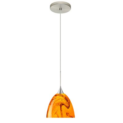 Sasha 1 Integrated Bulb Mini Pendant Finish: Satin Nickel, Bulb Type: Halogen