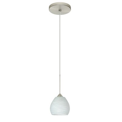 Tay Tay 1 LED Integrated Bulb Mini Pendant Bulb Type: LED, Finish: Satin Nickel