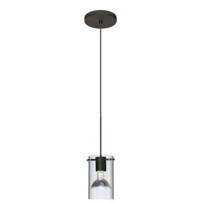 Scope 1 Light Mini Pendant Bulb Type: Halogen, Finish: Bronze, Shade Color: Clear