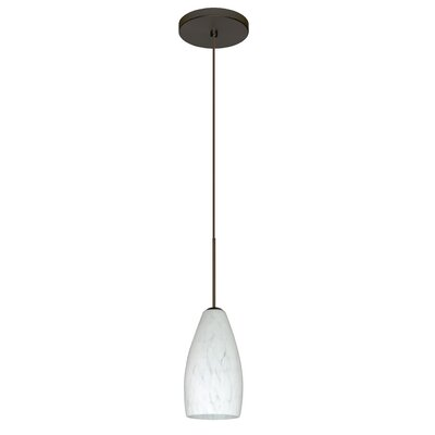 Karli 1-Light Mini Pendant Finish: Bronze, Bulb Type: Halogen