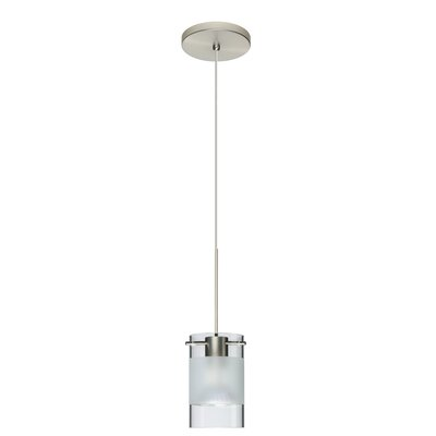 Scope 1-Light Mini Pendant Finish: Satin Nickel, Shade Color: Clear/Frost, Bulb Type: Halogen