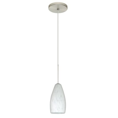 Karli 1-Light Mini Pendant Bulb Type: Halogen, Finish: Satin Nickel