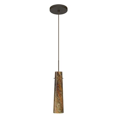 Camino 1 LED Integrated Bulb Mini Pendant Finish: Bronze, Bulb Type: LED