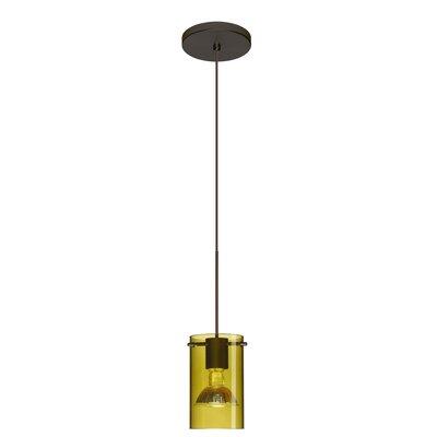 Scope 1 Light Mini Pendant Bulb Type: LED, Finish: Bronze, Shade Color: Transparent Olive