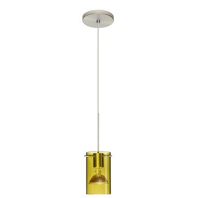 Scope 1 Light Mini Pendant Finish: Satin Nickel, Bulb Type: Halogen, Shade Color: Transparent Olive