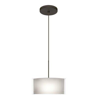Jodi 1-Light Mini Pendant Finish: Bronze, Bulb Type: Halogen