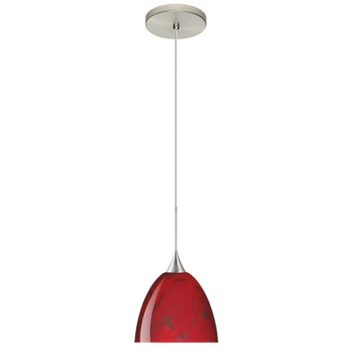 Sasha 1 Integrated Bulb Mini Pendant Finish: Satin Nickel, Bulb Type: LED