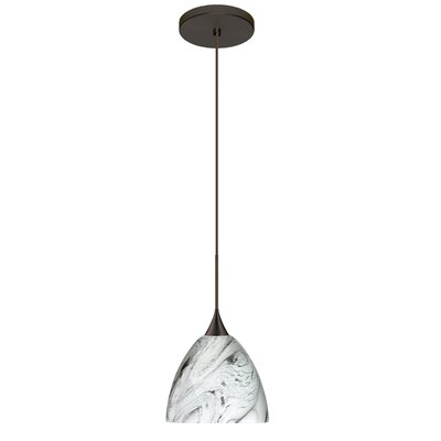 Sasha 1 LED Integrated Bulb Mini Pendant Finish: Bronze, Bulb Type: LED