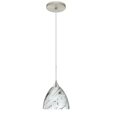 Sasha 1 Integrated Bulb Mini Pendant Finish: Satin Nickel, Bulb Type: LED