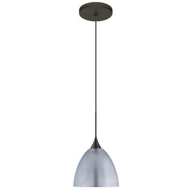 Sasha 1 LED Integrated Bulb Mini Pendant Finish: Bronze, Shade Color: Silver Foil, Bulb Type: Halogen