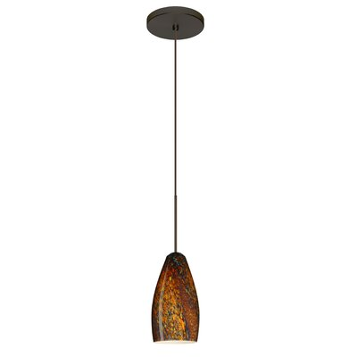 Karli 1 LED Integrated Bulb Mini Pendant Finish: Bronze, Bulb Type: LED