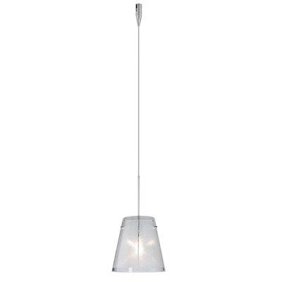 Amelia 1 Light Mini Pendant Finish: Satin Nickel, Glass Shade: Glitter, Bulb Type: Halogen