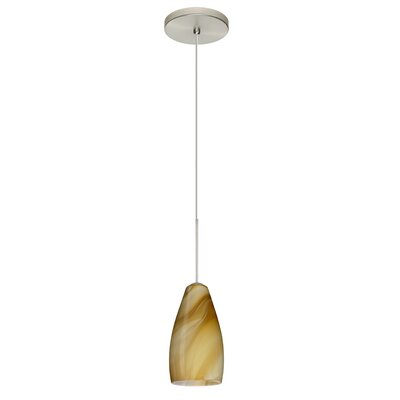 Karli 1-Light Mini Pendant Finish: Satin Nickel, Bulb Type: LED