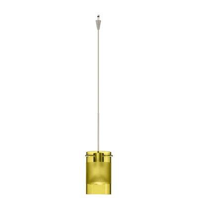 Scope 1 Light Mini Pendant Finish: Satin Nickel, Glass Shade: Olive-Frost