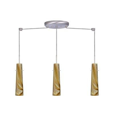 Camino 3 Light Linear Pendant Finish: Satin Nickel, Glass Shade: Honey, Bulb Type: Incandescent or Xenon
