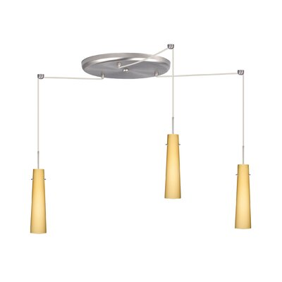 Camino 3 Light Pendant Finish: Satin Nickel, Glass Shade: Vanilla Matte, Bulb Type: Incandescent or Xenon