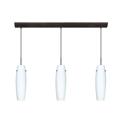 Suzi 3 Light Mini Pendant Finish: Bronze, Glass Shade: Opal Matte, Bulb Type: Incandescent