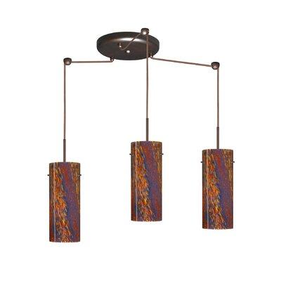 Stilo 3 Light Mini Pendant Finish: Bronze, Glass Shade: Ceylon, Bulb Type: LED