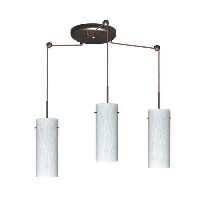Stilo 3 Light Mini Pendant Finish: Bronze, Glass Shade: Carrera, Bulb Type: LED