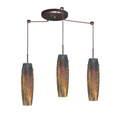 Suzi 3 Light Mini Pendant Finish: Bronze, Glass Shade: Ceylon, Bulb Type: LED