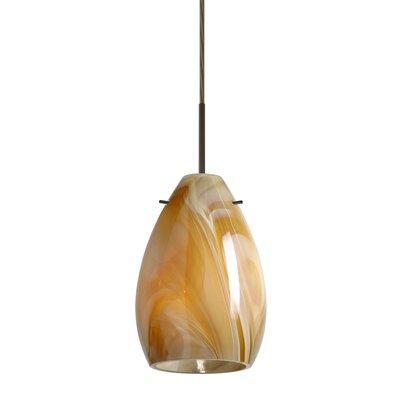 Pera 1 Light Mini Pendant Bulb Type: Incandescent, Finish: Bronze, Glass Shade: Honey