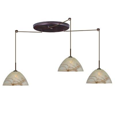 Tessa 3 Light Pendant Finish: Bronze, Glass Shade: Mocha, Bulb Type: Incandescent