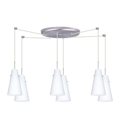 Cierro 6 Light Mini Pendant Finish: Satin Nickel, Glass Shade: Opal Matte, Bulb Type: LED
