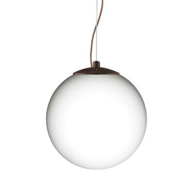 Callisto 1-Light Globe Pendant Finish: Brushed Bronze, Size: 11.5 H x 11.75 W x 11.75 D